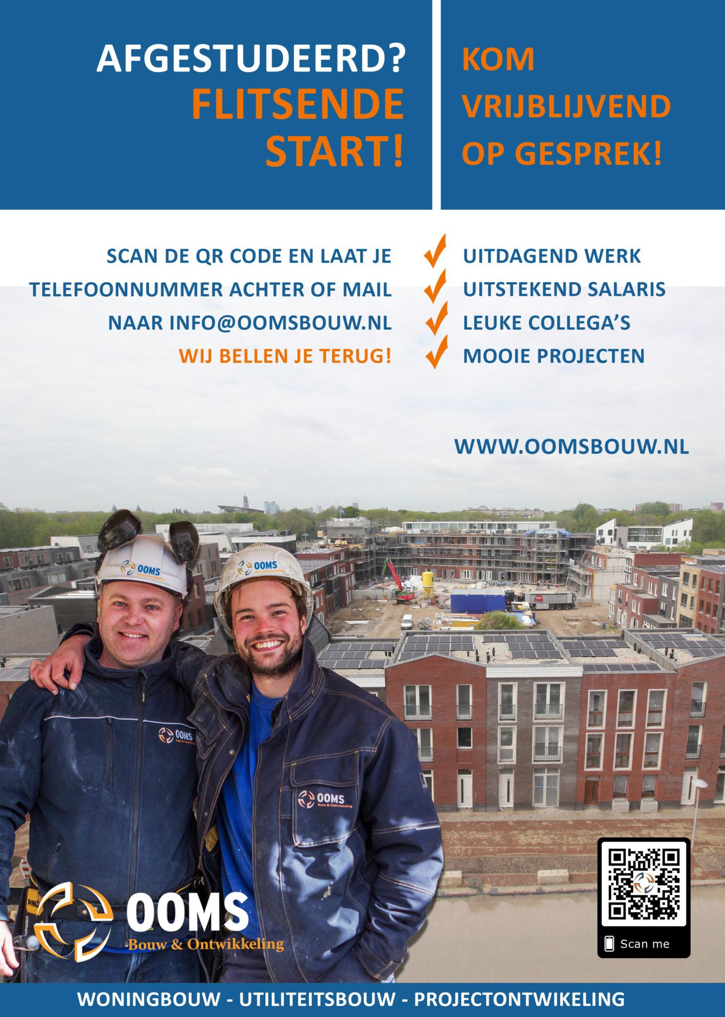 Flyer Scholen Afgestudeerden - Ooms Bouw & Ontwikkeling