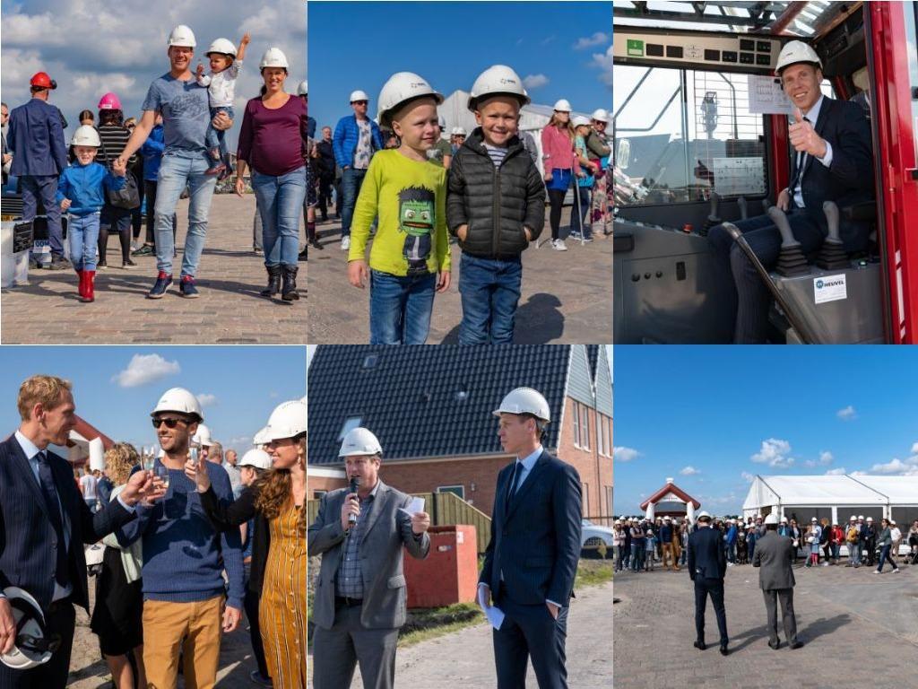 Feestelijke Paal Met Bewoners En Wethouder Langedijk In Langedijk Bij ProjectLantvaertis Geslaagd!