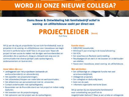 Ooms - Projectleider Gezocht!