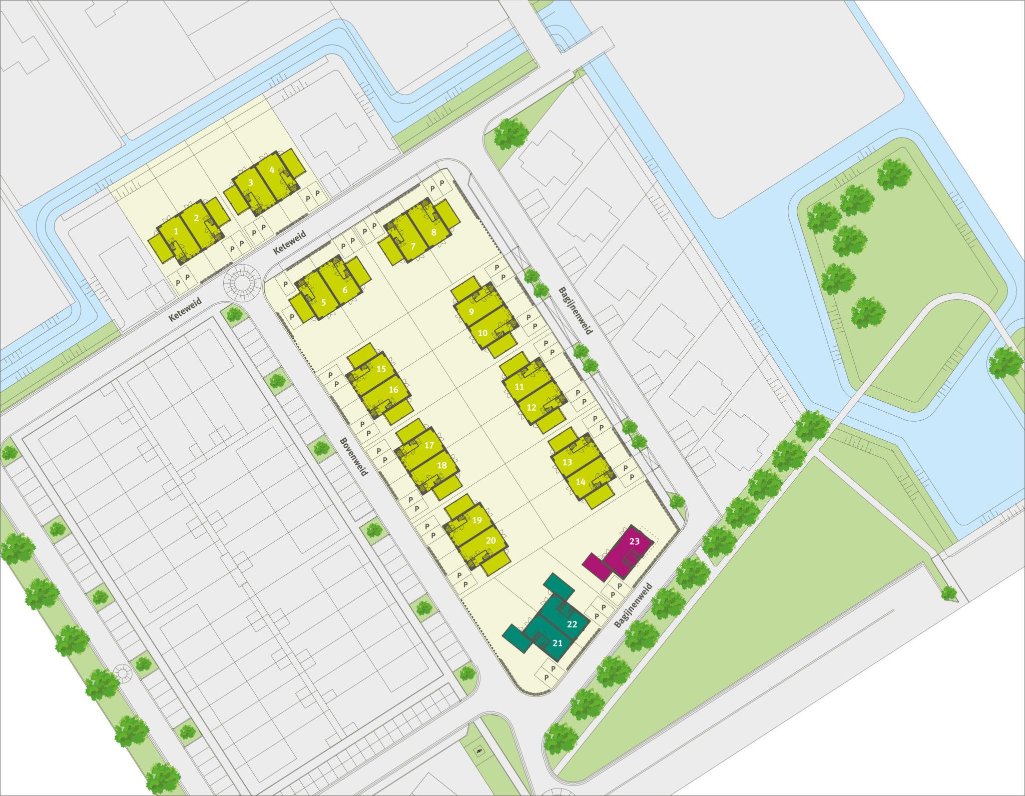 Ooms - Situatietekening MooiLand - Bangert & Oosterpolder