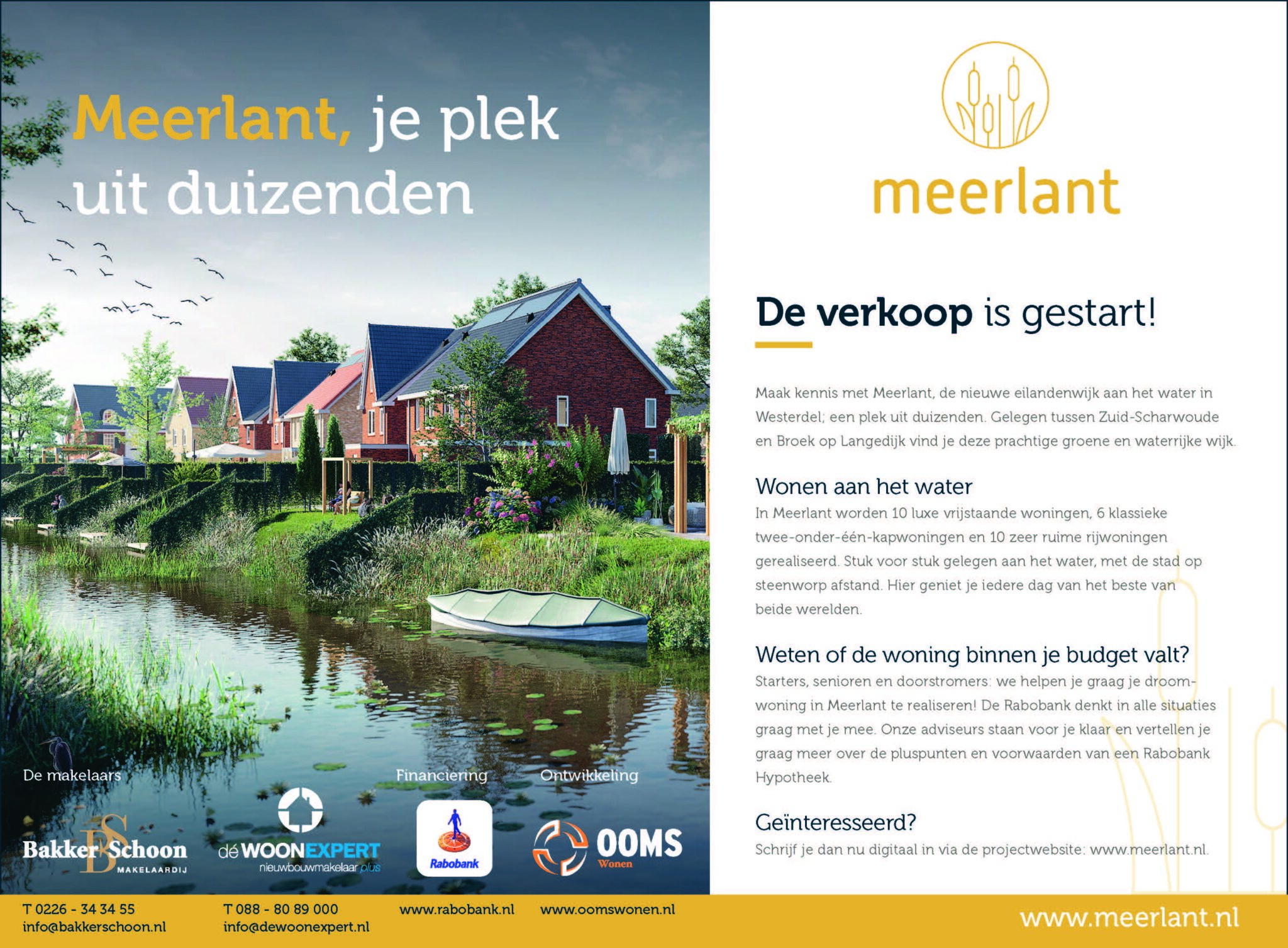 Verkoop Project Meerlant Gestart!